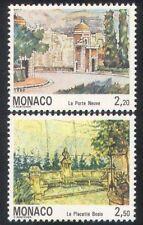 Monaco 1992 OLD MONACO/bâtiments/architecture/histoire/Heritage 2 V Set (n39299)