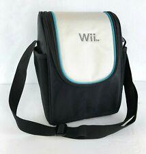 Nintendo Wii Console Carry / Storage Shoulder Bag, White / Black / Blue - OEM