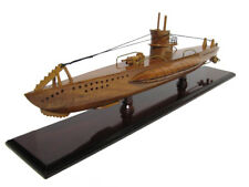 U-99 German Wolf Pack Otto Kretschmer U-Boat WWII Submarine Mahogany Wood Model