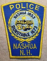 NH Nashua New Hampshire Police Patch