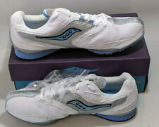 Saucony Velocity Spike Distance Womens Running Shoe 12 White Silver Blue New