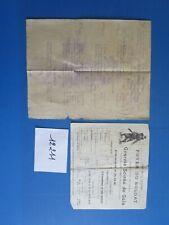 N°12211 /  dessin programme et prospectus janvier et décembre 1915