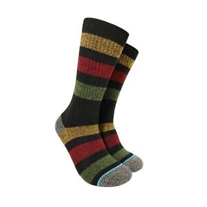 Rasta Stripe Hippie Hemp Bohemian Reggae Surf Style Crew Socks (SIZE LARGE 8-12)