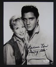 Barbra Eden w Elvis Flaming Star signed autograph 8 x 10 JSA COA