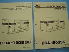 MQ Power 150KVA Generator  DCA-150SSK Instruction &  Parts Manuals s/n 340263