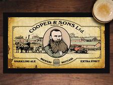 COOPER & SONS BEER VINTAGE MAT BAR RUNNER Man Cave