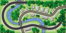 T Gauge 1:450 Scale Track Plan 1: Kidney Bean Track Layout