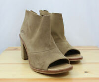 Ugg Austrailia Womens Shoes Ginger Peep Toe Ankle Booties Leather Brown Size 12