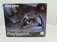 Sony Playstation Mad Catz PlayStation 1 PS1 Racing Steering Wheel/Pedals W/Box
