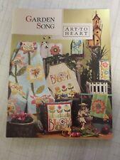 GARDEN SONG Nancy Halvorsen Quilt Applique NEW BOOK Art to Heart Spring Design