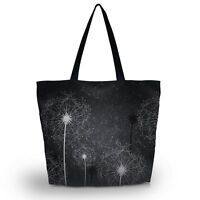 Dandelion Ladies Women Shoulder Shopping Tote Bag Handbag Beach Bag Zipper Pouch