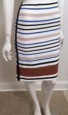 WHITE HOUSE BLACK MARKET SIZE 2 WOMEN'S PONTE STRIPE PENCIL SKIRT