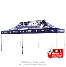 Custom FULL COLOR Printed Canopy 20ft x 10 Pop Up Tent Indoor Outdoor Trade Show