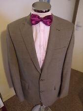 "CARL GROSS 'Tobias' Men's Gold Pin Check Smart Jacket C40"" Regular Wool Blend"