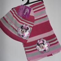 Disney Minnie Mouse * 2er Set * Mütze + Schal * Rosa mit Glitzer * Motiv* Neu