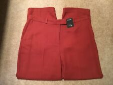 MARKS AND SPENCER AUTOGRAPH SLIM LEG RUST TROUSERS SIZE 12 SHORT BRAND NEW