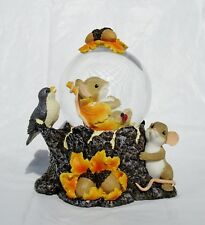 "New Charming Tails #131639 Fall Autumn Enjoy The Changes Glitter Dome 5.5"" High"