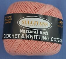 Apricot 4 ply Crochet or Knitting Cotton