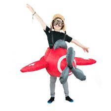 Kids Inflatable Air Plane Jet Fighter Fly Funny Halloween Fancy Dress Costume