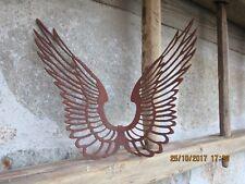 Edelrost Flügel  einhacken Muster Weihnachten Advent Dekoration Metall Garten