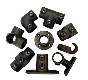 Industrial Finish Tube Clamp Handrail Scaffold Key Clamp Fittings - Size A and B