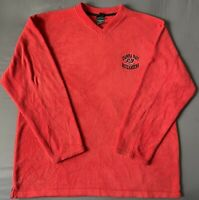 Vintage VTG Red Tampa Bay Buccaneers Mens Fleece Pullover Sweater Size XL. RARE!