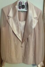 David's  Bridal Mother of the Bride/ Groom Pink Long Skirt Suit, Size 14 W
