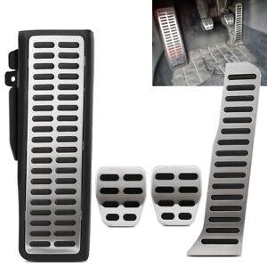 Non Slip Manual Car Gas Brake Foot Pedal Pad Cover Kit Set For VW Golf For Skoda
