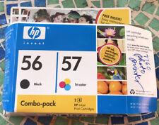 New Genuine HP 56 Black & 57 Tri-Color Ink Cartridge Set (Free Shipping!!!)
