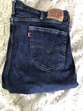 Levis 514 Straight Jeans Mens 42 x 32 Slim Fit Dark Wash Stretch Denim