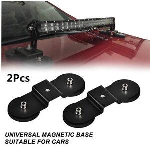 Stainless Steel Offroad Car Roof/Hood LED Light Bar Mount Bracket Magnetic Base