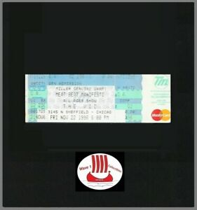 Meat Beat Manifesto Ticket 11/22/1996 The Vic Chicago, IL Industrial Wax Trax!