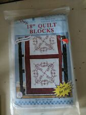 """Jdna 18"""" Wildflower Quilt Blocks Two packages."""