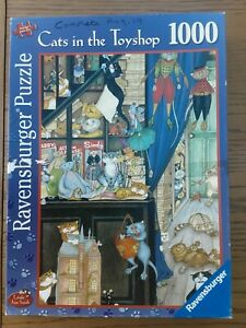 Ravensburger Cats in the Toyshop 1000 Piece Jigsaw Puzzle Used