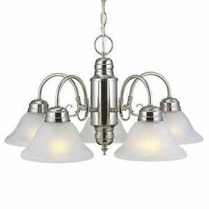 Design House 511535 Millbridge 5 Light Chandelier Satin Nickel