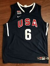 Lebron James #6 Dream Team Basketball USA Nike Jersey XXL Adult 2010 Authentic
