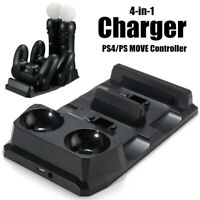 For PS4/Playstation PSVR VR Move Controller Charging Dock Charger Station Stand
