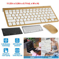 Wireless Keyboard & Mouse Combo 2.4G Portable Rechargeable Slim Adjustable DPI