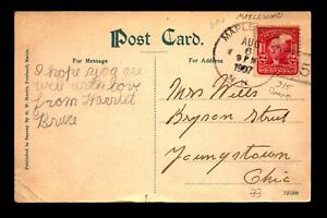 1907 Maplewood NH Doane Cancel Card / DPO - L28302