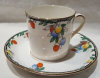 Sampson Smith Wetley China Art Deco Coffee Can c1930-39 Hand Painted England