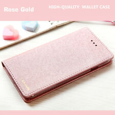 Luxury Wallet Silk Leather Magnetic Flip Case Cover For iPhone X 8 7 & 6s Plus