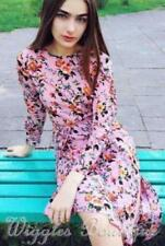 Long Sleeve Floral Dresses for Women with Ruffle