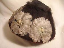 Vintage.Black, Flowered, Netting.Bucket / Wedding. Hat