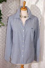 Sportliche RIVER WOODS  Damen Bluse 40 Fashion  blau weiß Muster Langarm