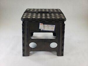 Acko Black 13 Inch Premium Plastic Heavy Duty Folding Step Stool