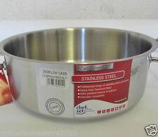 "Catermaster Professional SS Cookware Low Casserole/Saute Pan 24Cm/10""/3.6 Litres"
