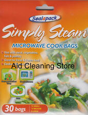Pack Of 30 Sealapack Simply Steam Vegetable Microwave Steam Cooking Bags