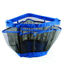 Blue Bathroom Bathtub Shower Organizer Bag Rack Caddy Hanging Tote Travel Basket