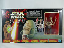 STAR WARS EPISODE 1 JABBA THE HUTT WITH 2-HEADED ANNOUNCER EUROPEAN BOX MISB