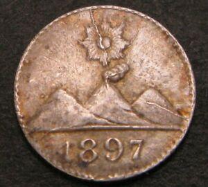 GUATEMALA 1/4 Real 1897 - Silver - XF- - 406